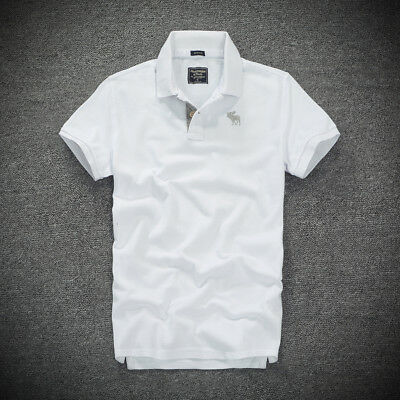 Abercrombie & Fitch by Hollister Men's Polo Shirt A&F Muscle Fit  All Sizes | 20