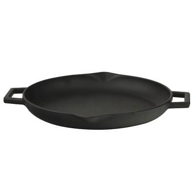 """12"""" Cast Iron Chip Resistant Frying Pan Cooker Kitchen Cooking Skillet Cookware"""