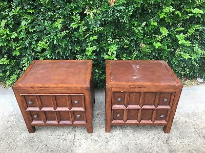 2 X Gorgeous Wooden Bedside Tables