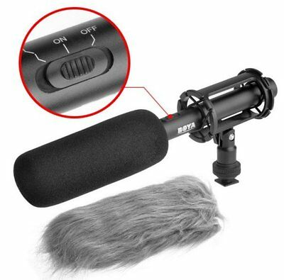 BOYA BY-PVM1000 Condenser Shotgun Mic Microphone 3-Pin XLR For DSLR Camera O5
