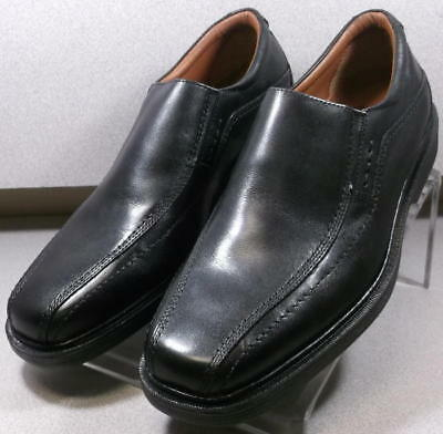 201951 MS50 Men's Shoe Size 8.5 M Black Leather Slip On Johnston & Murphy