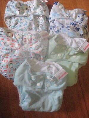 Preused reusable cloth nappy Bambooty - XL Easy Nights / heavy wetting