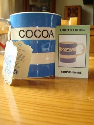 T.G Green, Cornishware, COCOA Large mug with man in the moon handle. Limited ED.