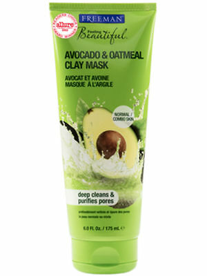 FREEMAN Facial Clay Mask Avocado & Oatmeal Normal to Combination Skin