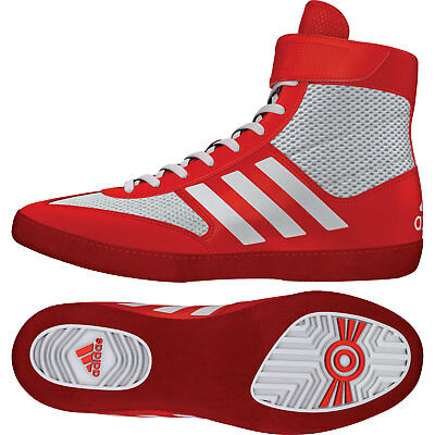 Adidas Combat Speed 5 Wrestling Shoes Red & White Boots Trainers Pumps