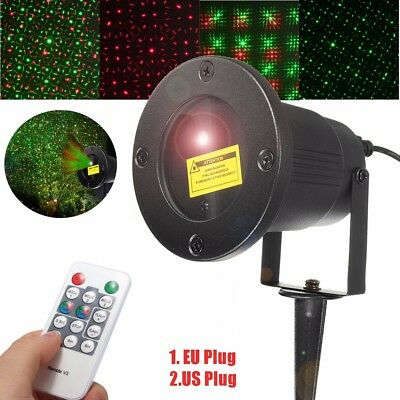 Xmas Party Lawn Garden LED Laser Projector Lamp Outdoor Landscape Fairy Light