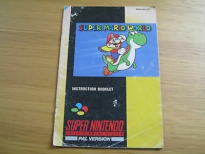 INSTRUCTION MANUAL ONLY for Nintendo SNES Super Mario World game