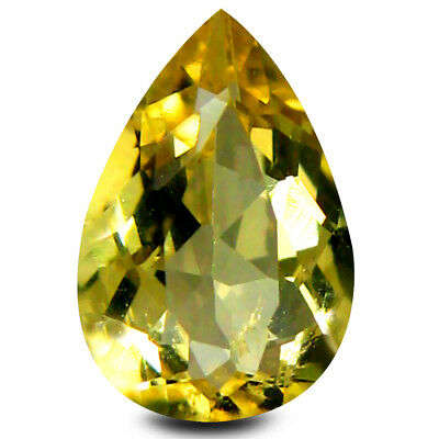 1.01 ct AAA Significant Pear Shape (9 x 6 mm) Yellow Heliodor Beryl Gemstone