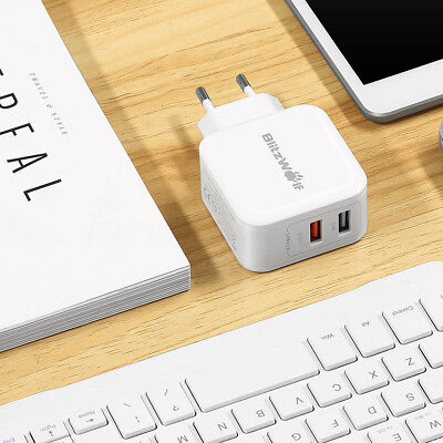 BlitzWolf BW-S6 30W Dual USB Port Charger Fast Charging Adapter For Phone Tablet