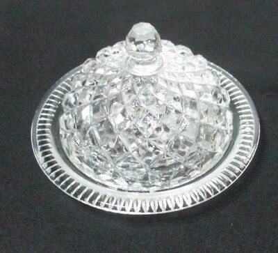 Vintage Glass CAVIAR/SWEETMEAT Plate & Cover. 13 x 8 cm