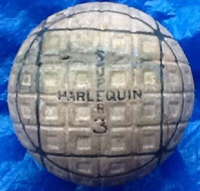 VERY NICE,  SUPER HARLEQUIN SQUARES WITHIN SQUARES   GOLF BALL c1929