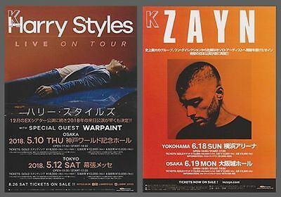 HARRY STYLES + ZAYN   Japan tour flyers