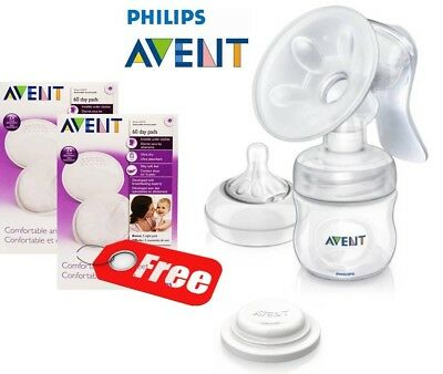 Philips Avent Natural Manual Breast Pump With Breast Pads BPA Free  SCF330/20