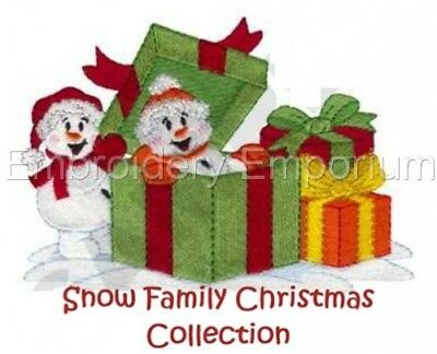 Snow Family Christmas Collection - Machine Embroidery Designs On Cd