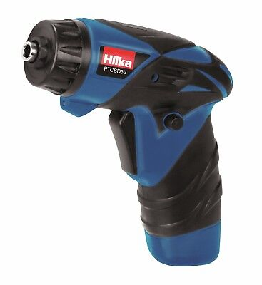 Hilka 3.6V Lithium Rechargeable Battery Cordless Screwdriver Drill & 11 Bits