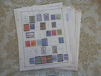 Uruguay Excellent Old Collection 1910-1949 On Pages Dr Schultz Estate !!8956U
