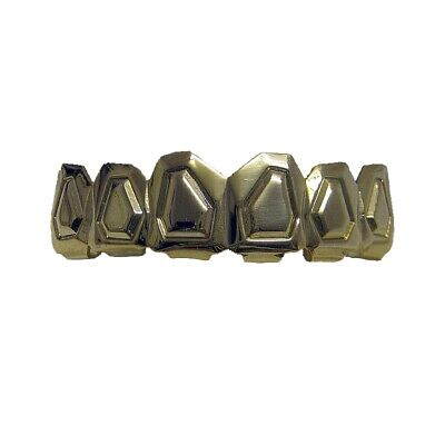 Grillz goffrato Tombstone riga superiore Hiphop bling Grillz