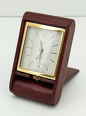 Jaeger Le Coultre 8  Day Travel Alarm Clock fully working. Jaeger-LeCoultre.