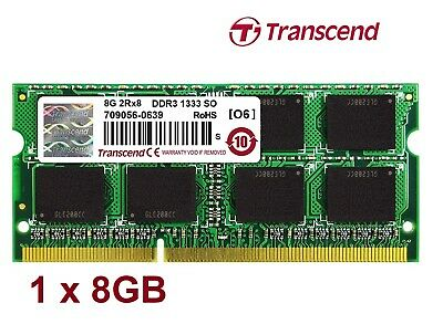 Sale! NEW Genuine TRANSCEND 8GB DDR3 1333 SO-DIMM 2Rx8 sodimm laptop memory RAM