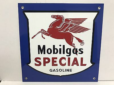 Mobilgas Mobil Gas Oil  pegasus gasoline racing vintage Style advertising sign