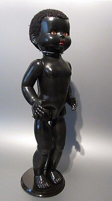 "Vintage Hard Plastic 1940s Black Baby Boy Doll 21"" by Pedigree England Rare Old"