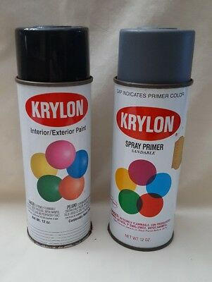 Vintage lot of 2 Krylon Spray Paint Can  USA Advertise 1991