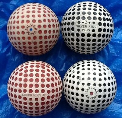 4 x DIFFERENT NAMED GOLF BALLS c1930-c1932