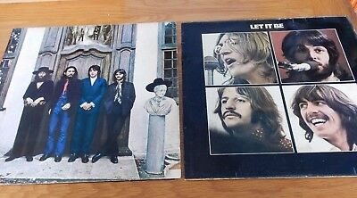 Vinyl Albums  The Beatles Hey Jude YEEX 150 and  Let it Be YEX 773 Stereo