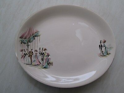 Alfred Meakin medium sized oval platter in the My Fair Lady design