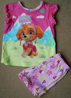 Girls Paw Patrol Ex Store Short Pyjamas 4 Ways To Wear