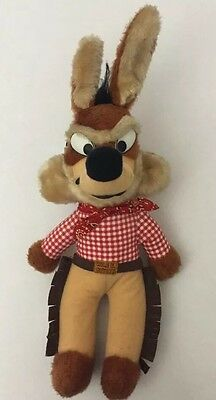 1971 Warner Bros. Mighty Star Wile E. Coyote Western Plush Red Scarf Chaps 15""