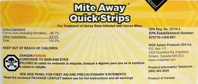 Mite Away Quick Strips - Single Pack Treatment for Varroa Mites