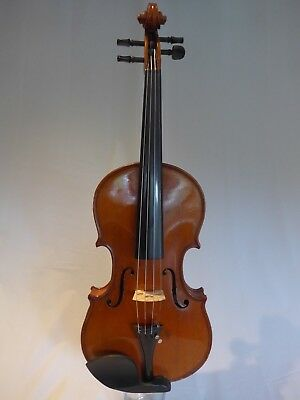 Beautiful Old, Vintage Full Size Violin (4/4) With Nicely Flamed One Piece Back