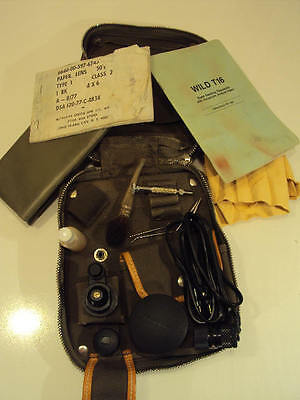 Vintage Wild Heerbrugg T-16 Theodolite Accessory Case Us Military Issue