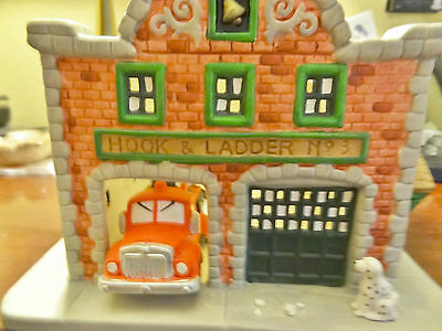 Partylite Fire Station Tealight Candle Holder Retired P7300  Hook & Ladder #3