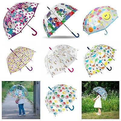 Children's Kids Animal Face Boys Girls Unicorn Character Dome Colourful Umbrella