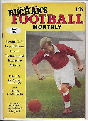 Football Monthly 1952 Fa Cup England Middlesbrough Newcastle Burnley Walthamstow