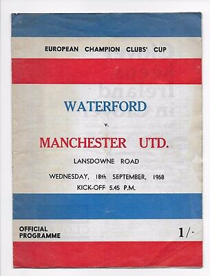 Waterford V Manchester United 1968 European Fa Cup England Ireland
