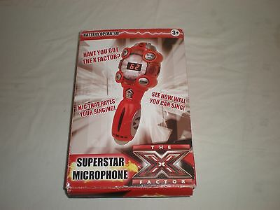 Ultra Rare New Xfactor Superstar Microphone - Karaoke - Rates How Good You Are