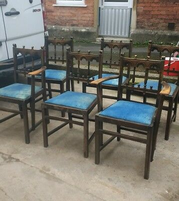 early 20th century dining chairs x6