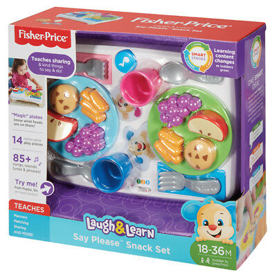 Fisher Price Laugh & Learn Say Please Snack Set NEW