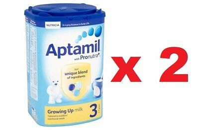 2 x Aptamil With Pronutra 3 Growing Up Milk Powder 1-2 Years 900g SEALED