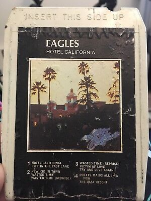 The Eagles hotel California 8 Track tape cartridge music vintage working