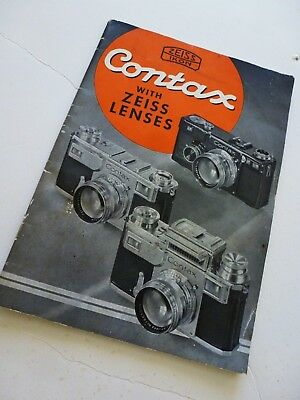 1937 Vintage Zeiss ikon Contax with Zeiss Lenses Booklet