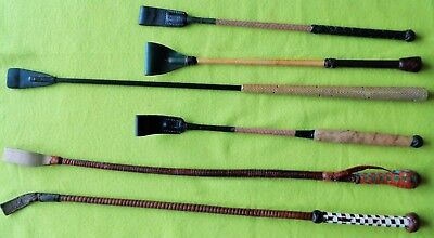 Collection Lot (6) Antique Vintage Equestrian Horse Riding Crops Whips~NO RESERV