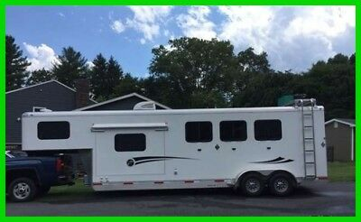2017 Shadow Weekender 3 Horse 9' SW 27' Trailer with LQ's Slide Out LED Lights
