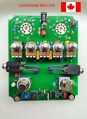 All Tube 2-Channel Guitar Preamp Pcb - Diy, Based On Matchless Hotbox, High Volt