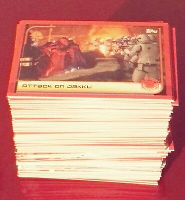 Topps Star Wars The Last Jedi lot 195 different cards including limited editions