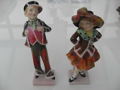 Royal Doulton Figurines Pearly Boy & Pearly Girl, HN2035 &HN2036 Mint No Reserve