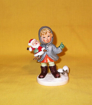 VTG NAPCO CHRISTMAS GIRL with SANTA CLAUS DOLL FIGURINE X8367